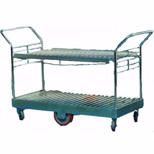 Picture of 2 Tier Stock Trolley with Shelf